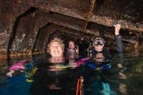 11m underwater!